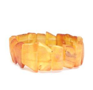 Bernstein-Armband-Roh-Baltisch-19-g-Naturbernstein-Bernsteinarmband-Honig-Amber