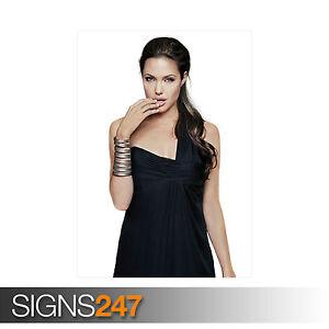 ANGELINA-JOLIE-BLACK-DRESS-1165-Photo-Picture-Poster-Print-Art-A0-A1-A2-A3-A4