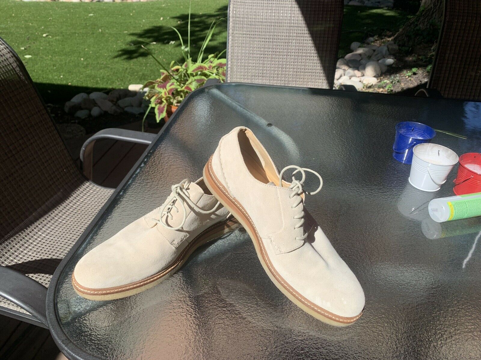 Men's Sperry Gold Cup White Suede Bucks Oxfords S… - image 2