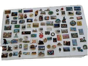 Vtg-large-lot-100-Tourism-Metal-Plastic-Rubber-amp-Resin-Fridge-Magnets-80-039-s-00-039-s