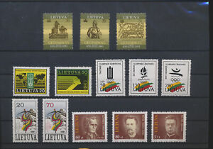 LN49708 Lithuania mixed thematics nice lot of good stamps MNH