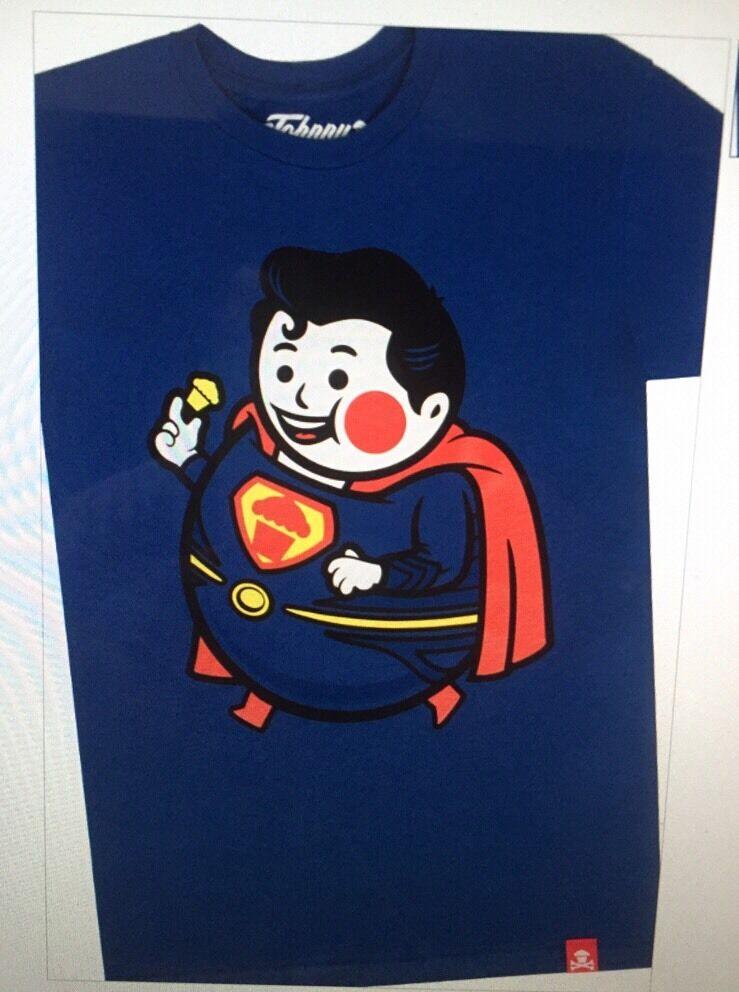 Brand New Johnny Cupcakes Superman Shield Big Kid BK  2X XXL