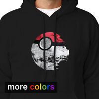 Pokemon Star Wars Death Star Adult Hoodie, Pikachu Darth Vader Yoda Sweatshirt