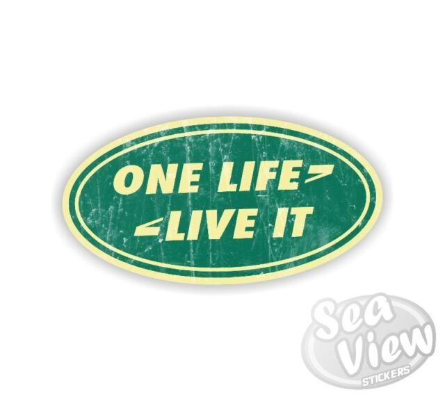 One Life Live It Land Rover Symbol Car Van Bedroom Wall Window Decal