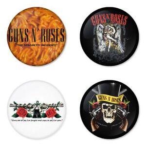 Guns N' Roses, B - 4 chapas, pin, badge, button