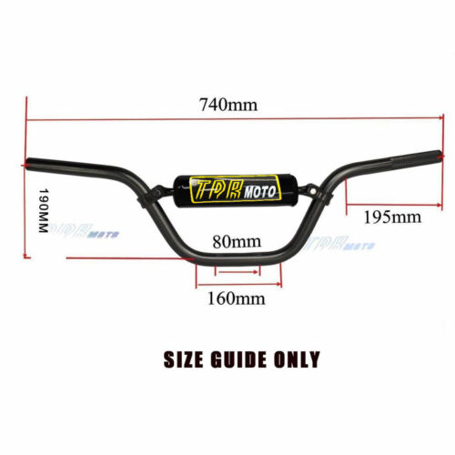 "Universal 7//8/"" 22mm Handlebar High Rise Handle bar 4 KAYO Apollo Bse dirt bike"
