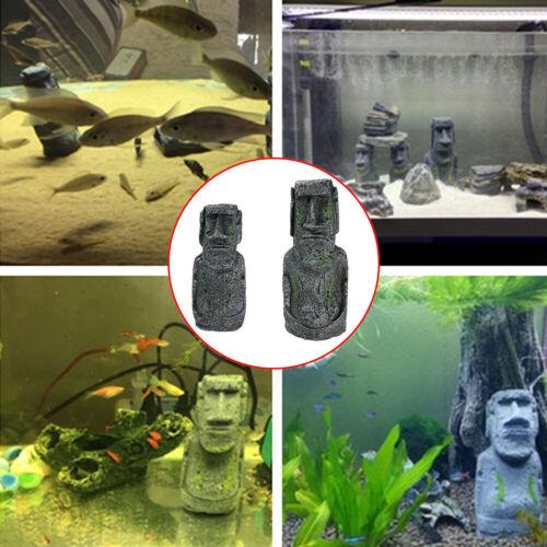 US Easter Island Resin Statue Moai Home Decoration Aquarium Decor Great Gift