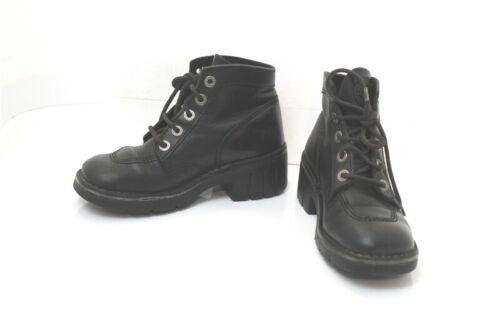 Kickers Boots High Heel Leather Flexible Black T38
