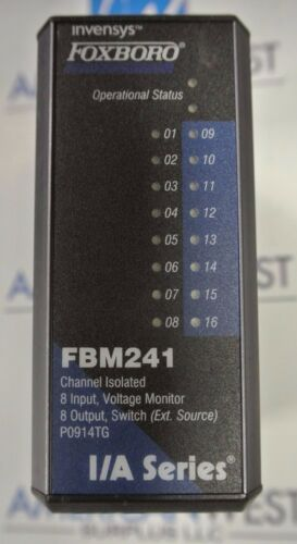 Voltage Monitor Channel Isolated 8 Input USED Invensys FOXBORO FBM241