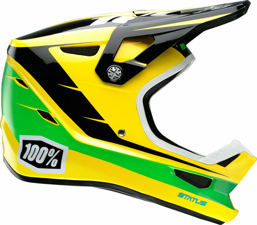 100% STATUS DH BMX Helmet - D-Day Yellow - LG