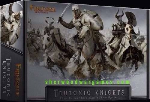 28mm Medieval Teutonic Knights,  Deus Vult, Fireforge Games, The Crusades