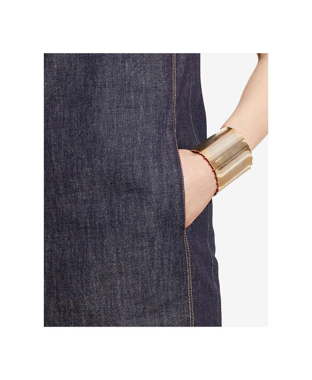 NWT Ralph Lauren Women's Dianva Womens Denim Leather Leather Leather Trim Casual Dress 10P   139 afd7bd
