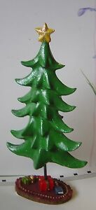 Village Christmas Tree Stand.Details About Holiday Christmas Tree 8 Resin Village Green Star Presents Stand Miniature New