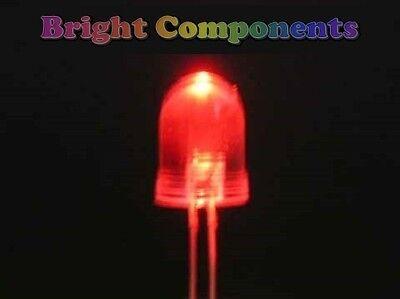 5 x Green LED 10mm UK 9000mcd - 1st CLASS POST Ultra Bright