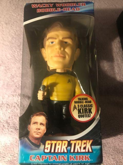 Funko capitán Kirk hablando Wacky Wobbler. figura De Acción