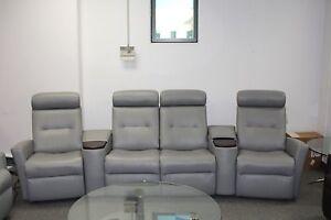 Image Is Loading Fjords Madrid Cinema 4 Seat Power Reclining Sofa