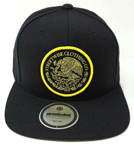 STREETWISE MEX-SEAL Snapback Cap Mexico Hat OSFM Black New
