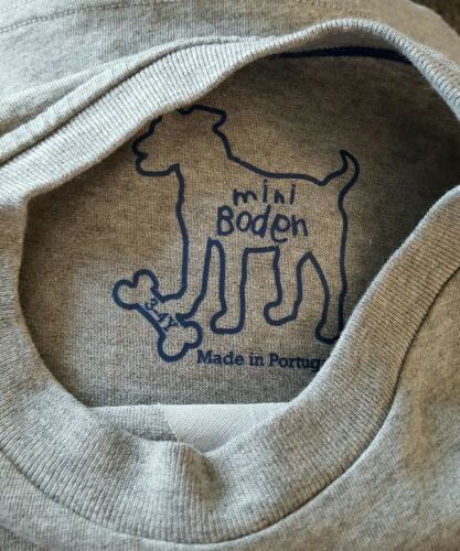 UK Size 3-4 years Mini Boden Boys Applique long sleeve top cotton Brand new