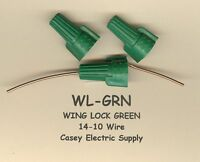 50 Green Grounding Ground Wing Twist Lock Wire Connectors 14-10 Awg Molex