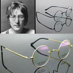 78d87255de1 Mens Titanium Eyeglass Round Pure Eyewear John Lennon Vintage Golden ...