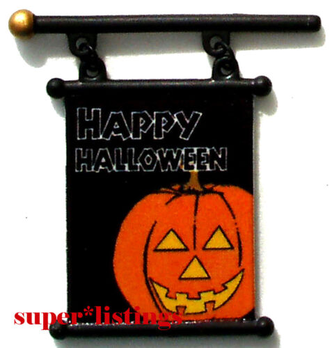 Dept 56 Happy Halloween Banners Set of 4 New 53048 Free Shipping