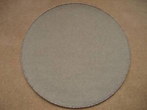 1720-NEU-runder-Teppich-Wolle-beige-meliert-rund-90-cm
