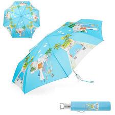 New TOTES Fashionista In Los Angeles Auto Open Rain Sun Umbrella 42-48in Blue