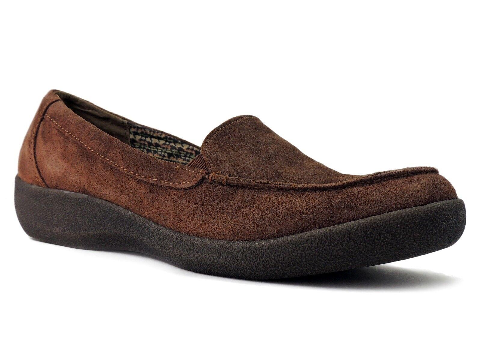 Easy Spirit Women's Warwicks Loafers Bittersweet Brown Suede Size 9 M