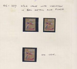 Malta - 1965, 4 1/2d stamps - Sail & Flags Error/Flaw - MNH - SG 337