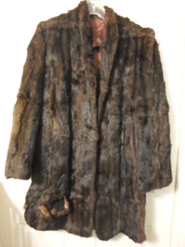 Vintage Mink Coat-Bell Sleeves-Shawl Collar