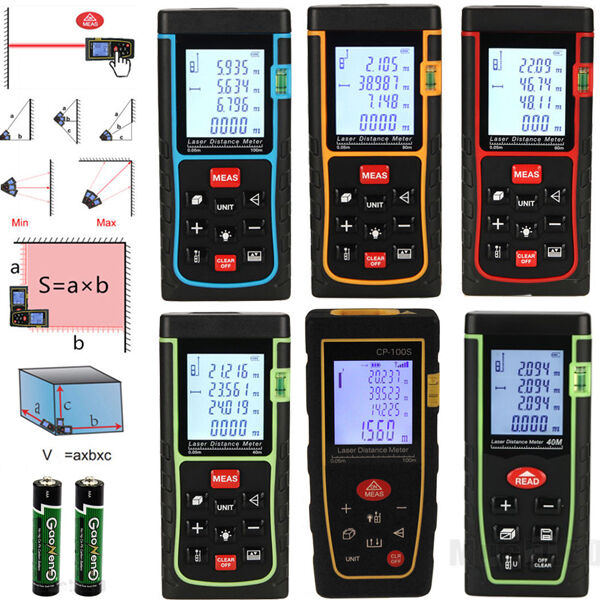 40 60 80 100M Mini Digital Laser Distance Meter Range Finder Measure Diastimeter