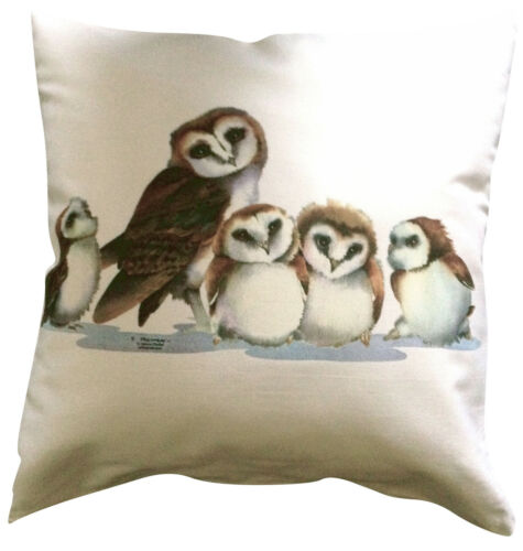 Owl Family Themed Cotton Cushion Cover Perfect Gift