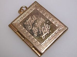 VINTAGE-1950-039-S-GOLD-PLATED-034-THIS-IS-YOUR-LIFE-034-PICTURE-LOCKET