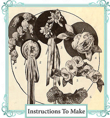 Vintage 1920 sewing pattern pretty fabric decorative flowers,corsages, ebook CD