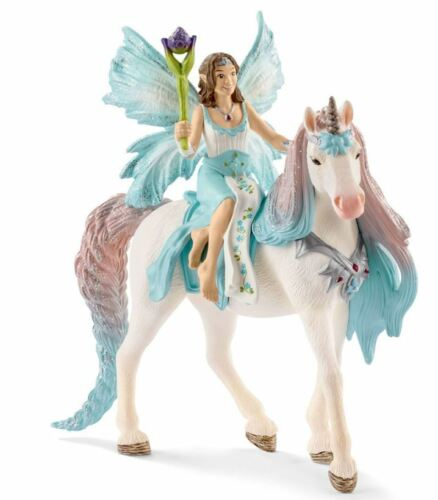 Toy Figure Schleich 70569 Bayala Fairy Eyela with Princess Unicorn