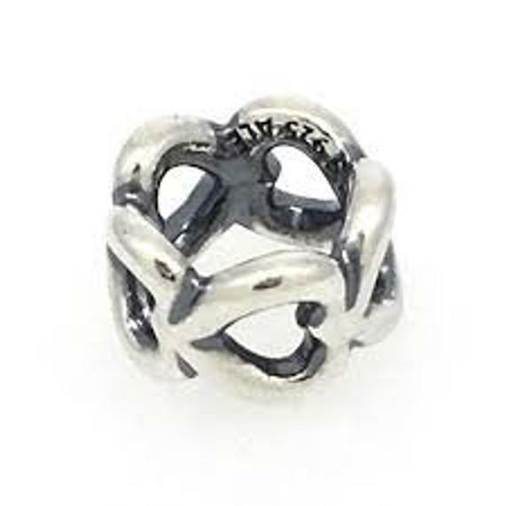Authentic Pandora,SILVER, OPENWORK HEART SPACER CHARM 790454, S925 ALE