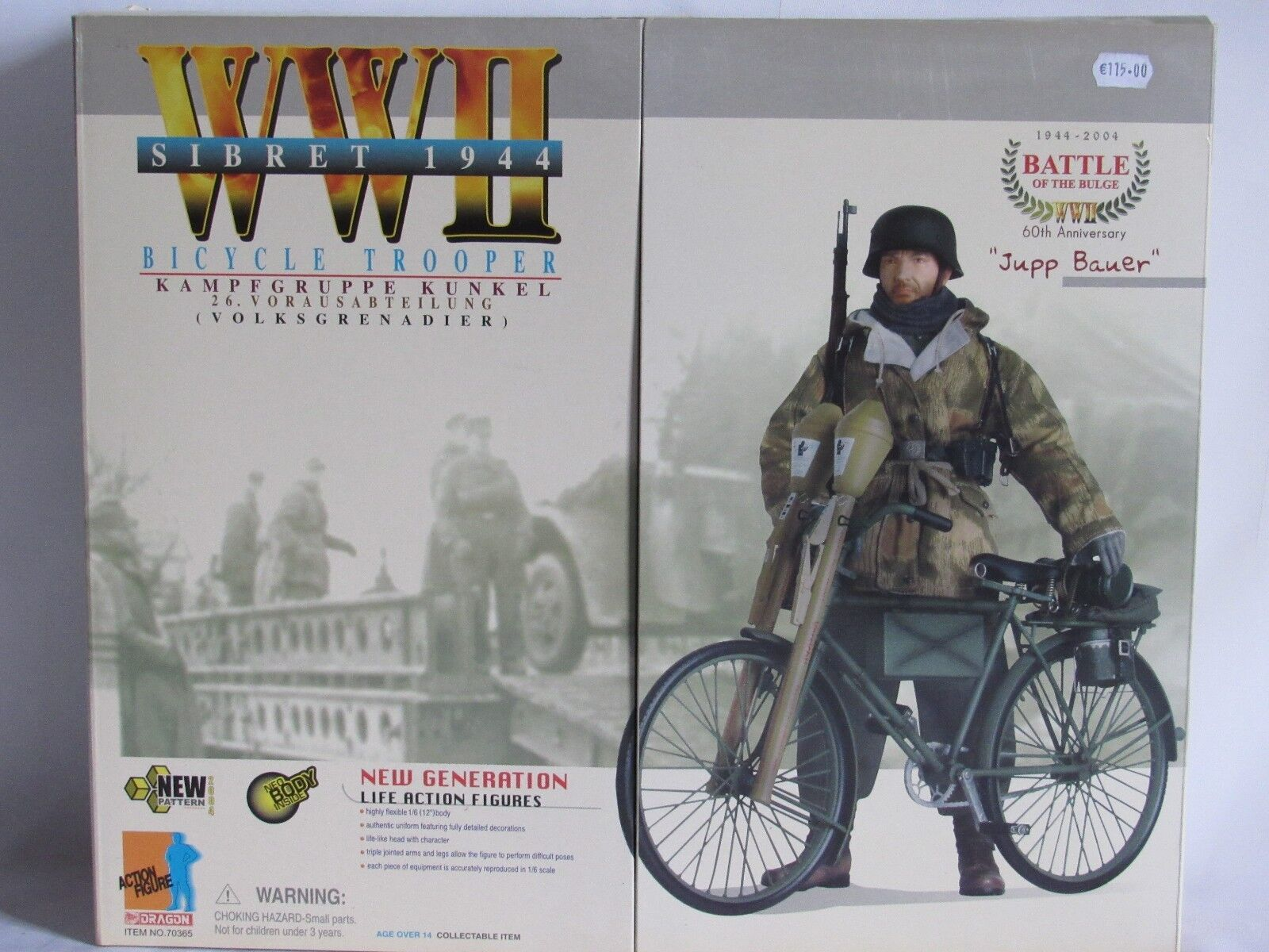 04e2 Dragon Acción German Figura Soldado Bicycle Trooper Jupp Bauer Ww2 39 45