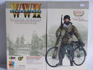 04e2 Dragon Action Personnage Allemand Soldat Vélo Soldat Jupp Bauer Ww2 39/45