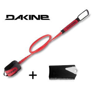 "Dakine Kaimana Team Leash Red 6/' x 1//4/"" Wax Bit Bar"