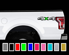 2X 2015-2017 Ford F150 4x4 Truck Bed Decal Set Colored X Vinyl Stickers