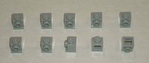 LEGO NEW 1x1 Light Bluish Grey Brick with Headlight 10x 4211476 Brick 4070