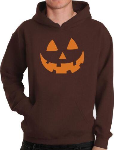 Orange Jack O/' Lantern Pumpkin Face Halloween Costume Hoodie Funny