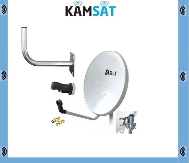 80cm HD SAT Installation Digital Single LNB + Wall Mount 45cm 4K SATELITTE ANTEN