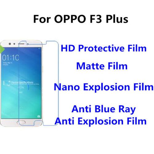 3 un para OPPO F3 Alto Claro//Mate//Plus Nano explosión protector de pantalla