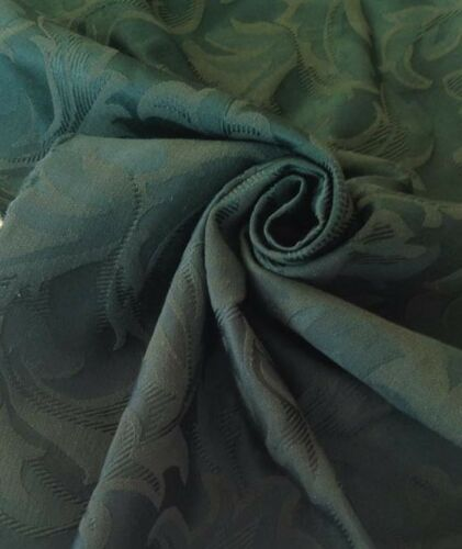 "5 Meters Prestigious Green Heavy Jacquard Brocade 60/"" Wide Curtain Fabric"
