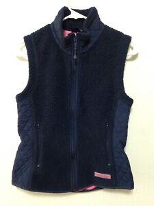 H469 Vineyard Vines Womens Full Zip Sleeveless Fleece Vest
