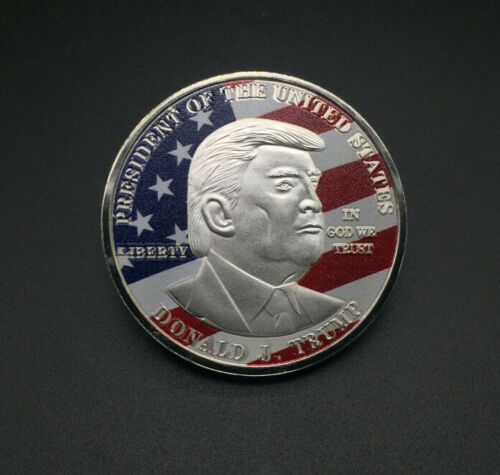 New President Donald Trump Inaugural Silver Commemorative Novelty Coin In Case
