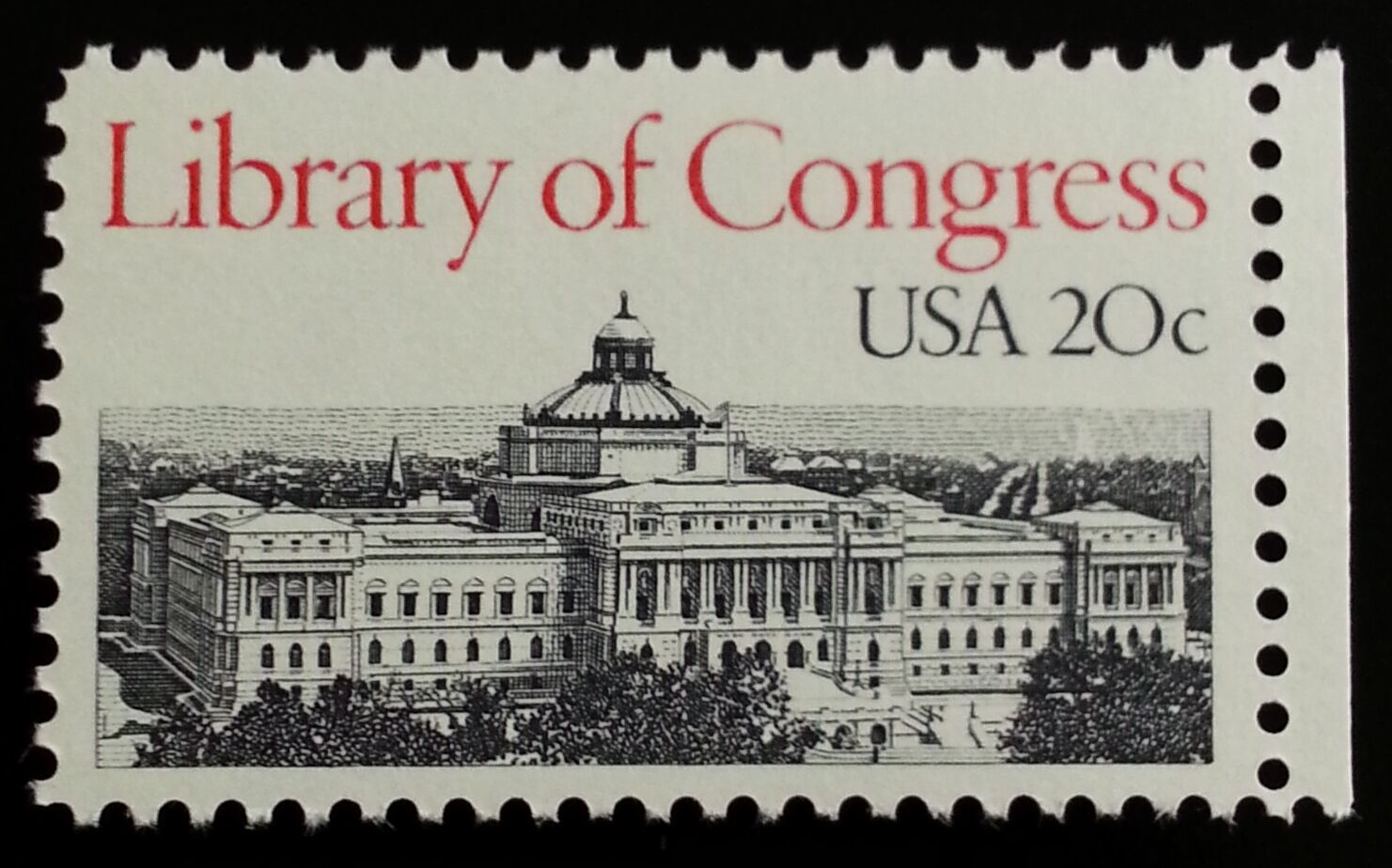 1982 20c Library of Congress, Washington D.C. Scott 200