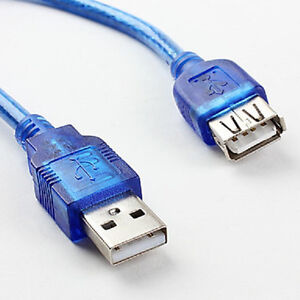 2 UNITS OF 6 FT USB 2.0 A MALE TO FEMALE EXTENSION CABLE USB2 M/F EXTENSION CORD