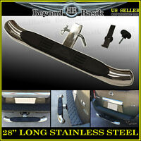 Hitch Step Bumper Guard For Vehicles With 2 Receiver, 28 Long Stainless Steel